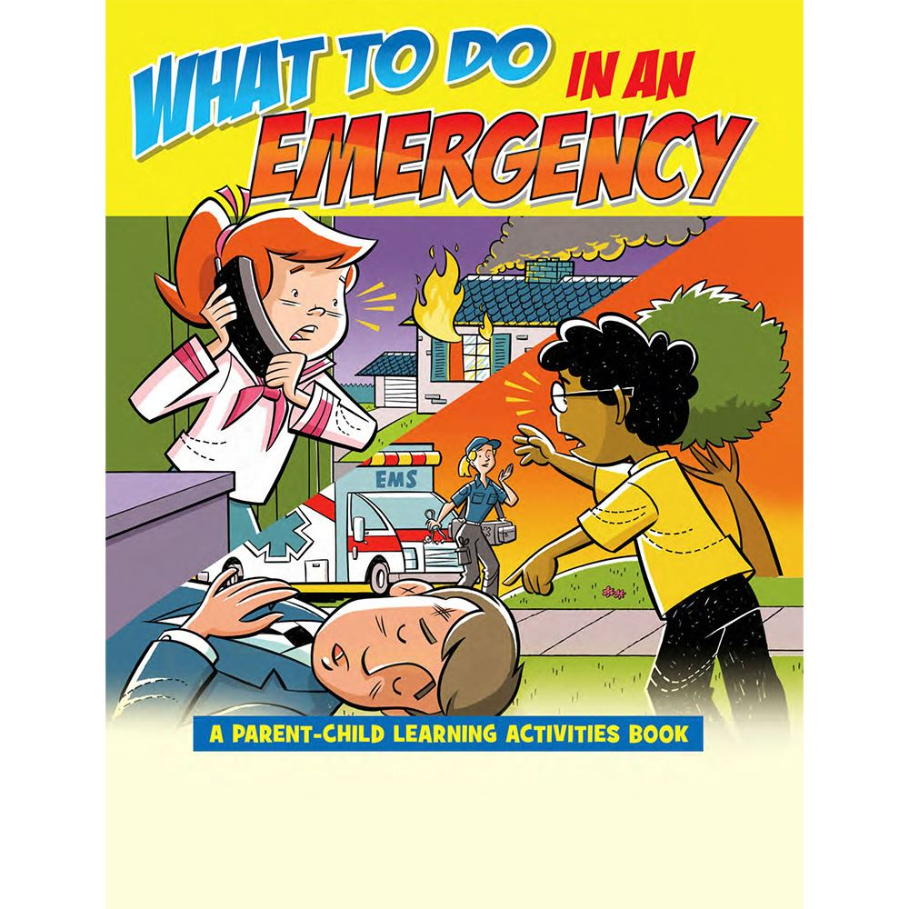 What To Do In An Emergency Parent-Child Learning Activities Book - Personalization Available