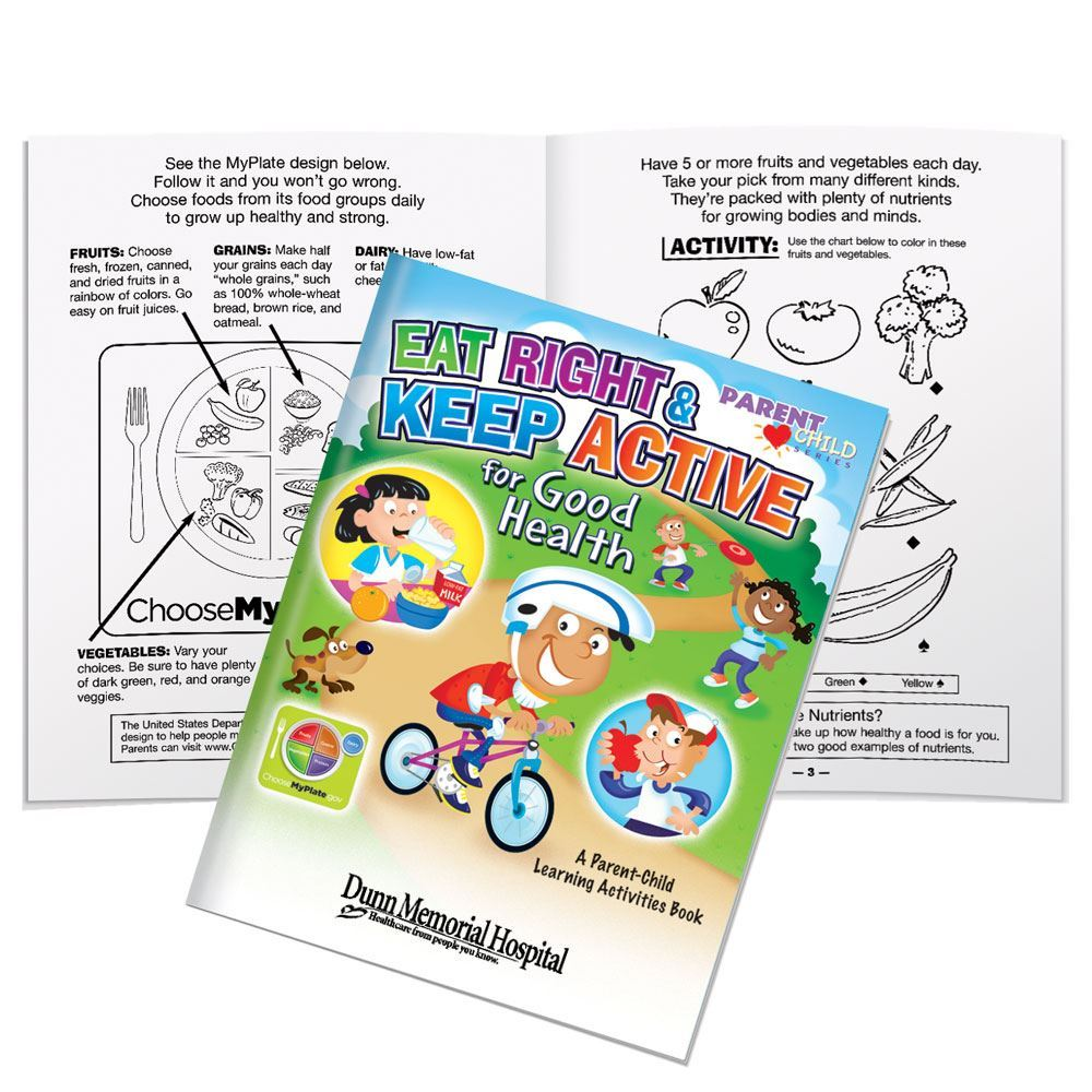 Eat Right & Keep Active Parent-Child Activities Book - Personalization Available