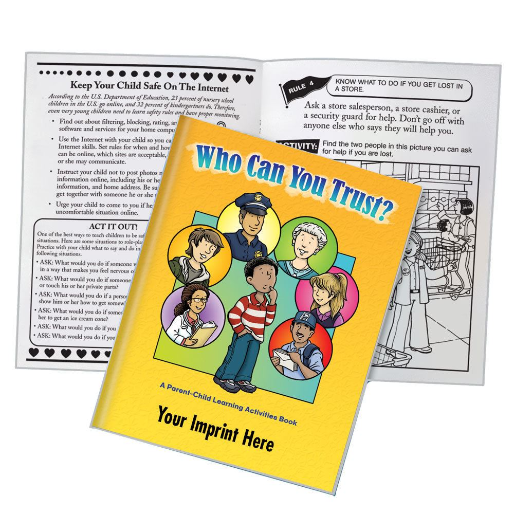 Who Can You Trust? Parent-Child Learning Activities Book - Personalization Available