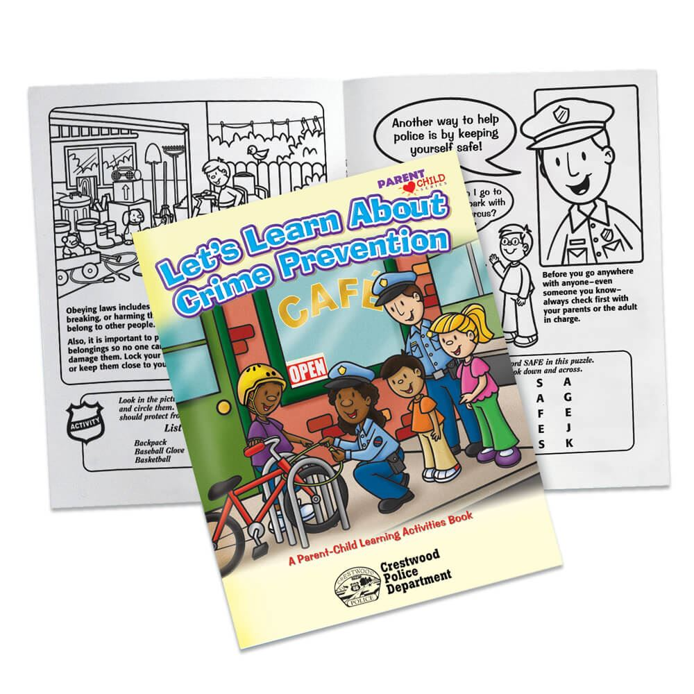 Let's Learn About Crime Prevention Parent-Child Learning Activities Book - Personalization Available