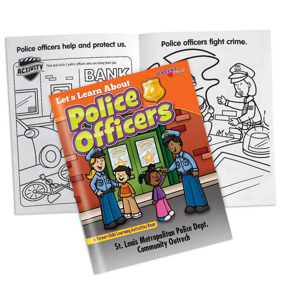 Let's Learn About Police Officers Parent-Child Learning Activities Book - Personalization Available