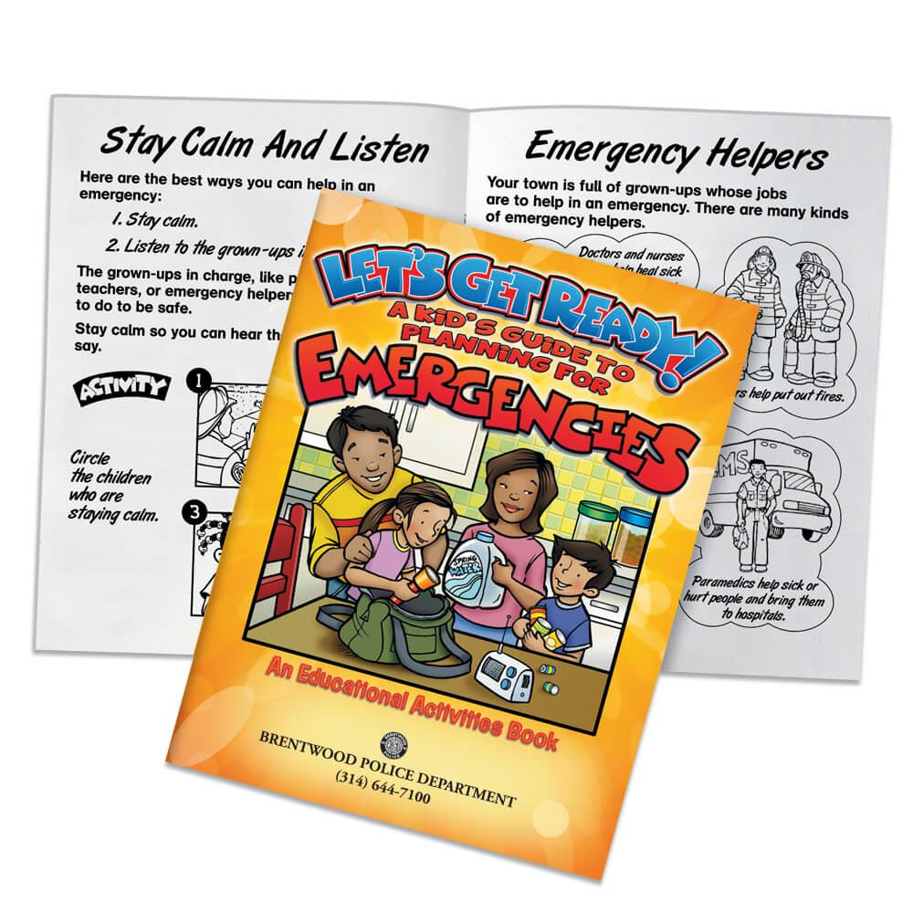 Let's Get Ready! A Kid's Guide To Planning For Emergencies Educational Activities Book - Personalization Available