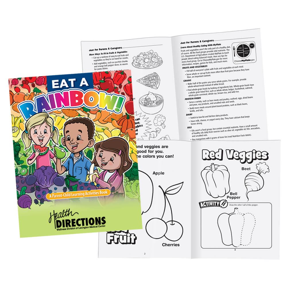 Eat A Rainbow! Parent-Child Learning Activities Book - Personalization Available