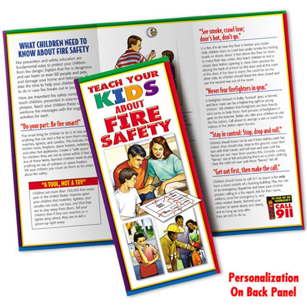 Teach Your Kids About Fire Safety Brochures (Personalized)