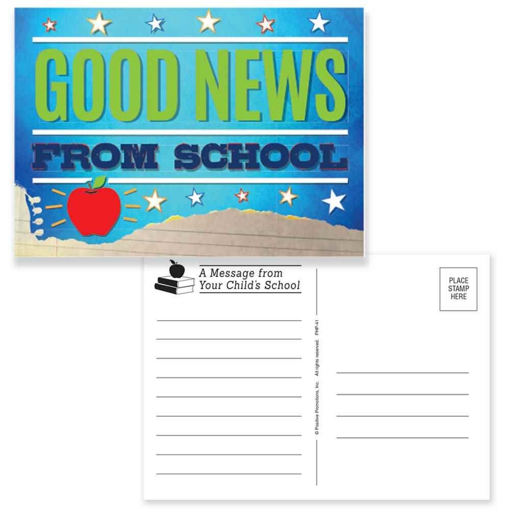 Good News From School Postcards