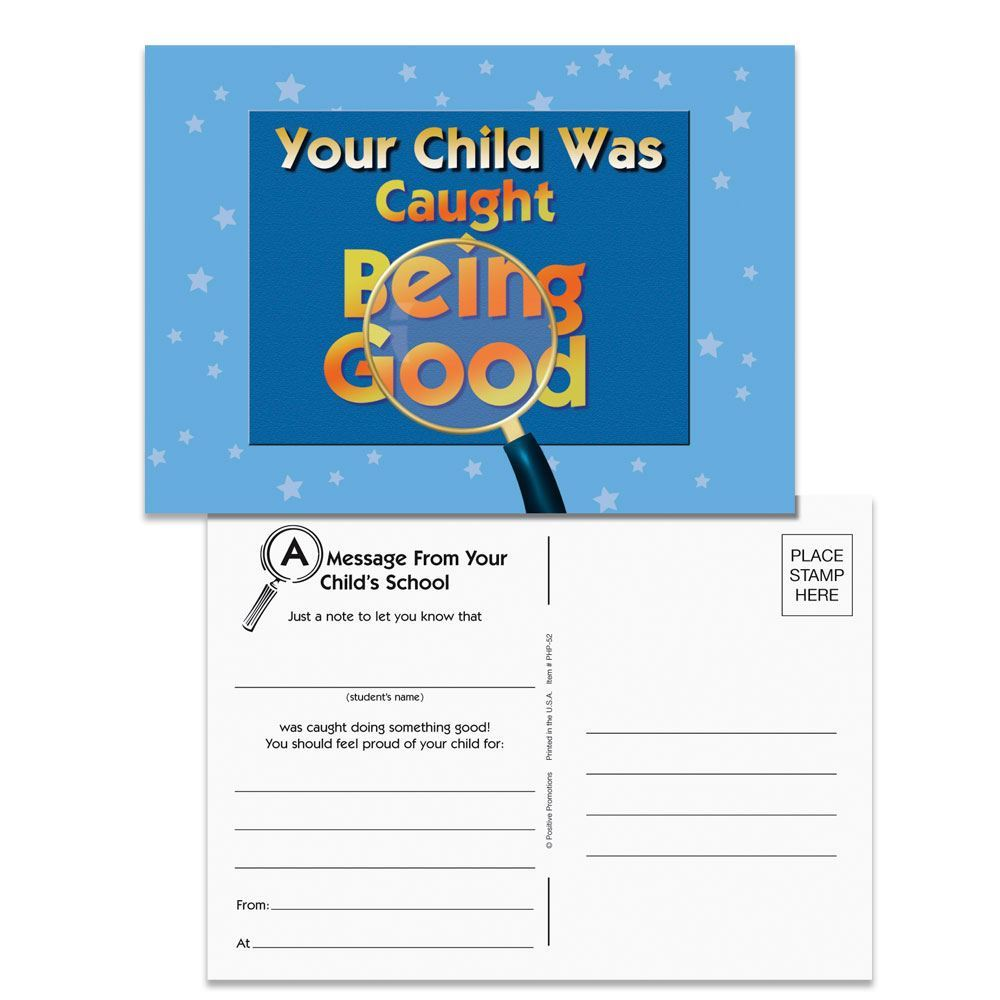 Your Child Was Caught Being Good Postcards