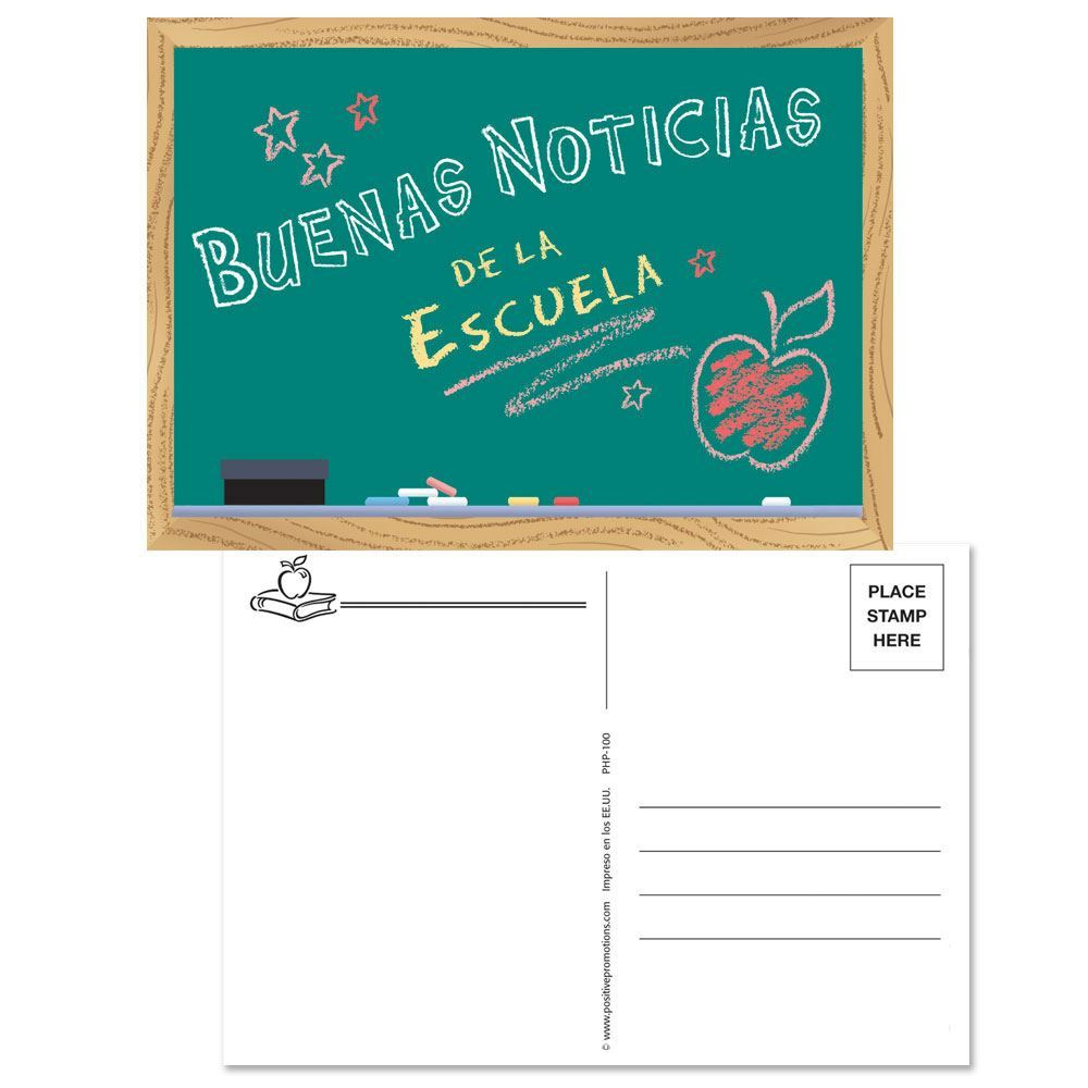 Good News From School Postcards - Spanish Version