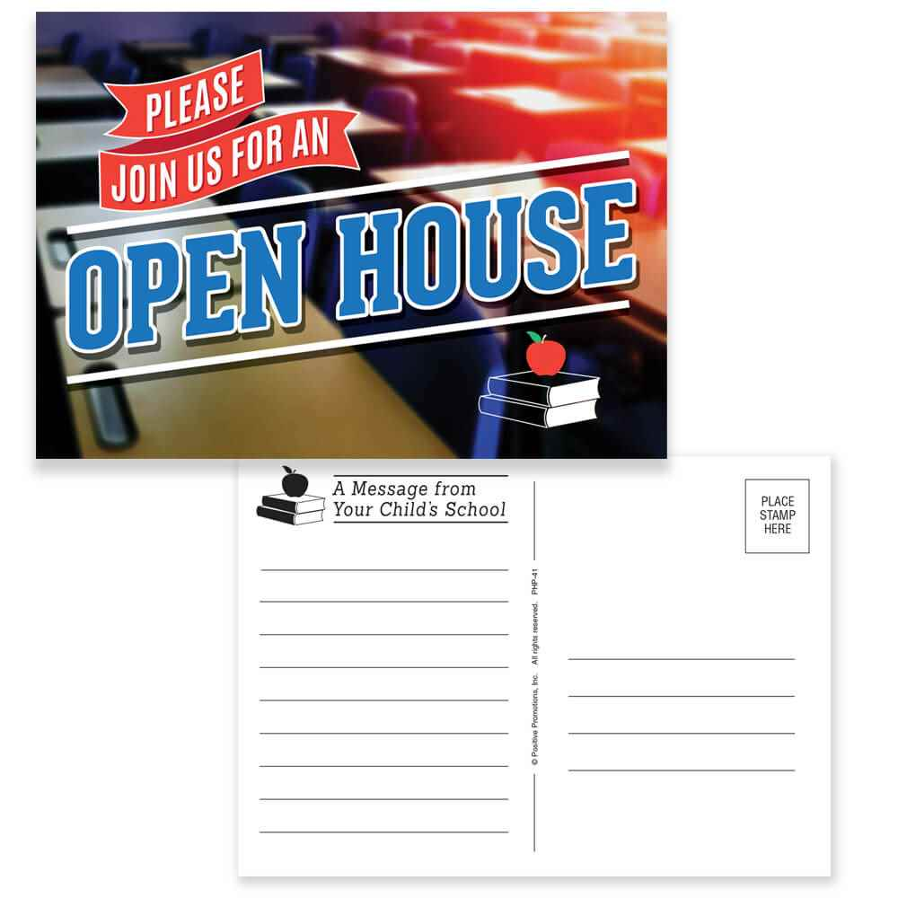 Please Join Us For An Open House Postcard