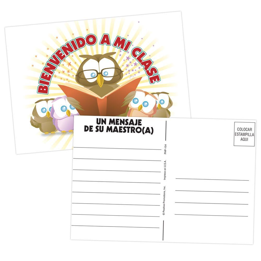 Welcome To My Class Postcard (Spanish)