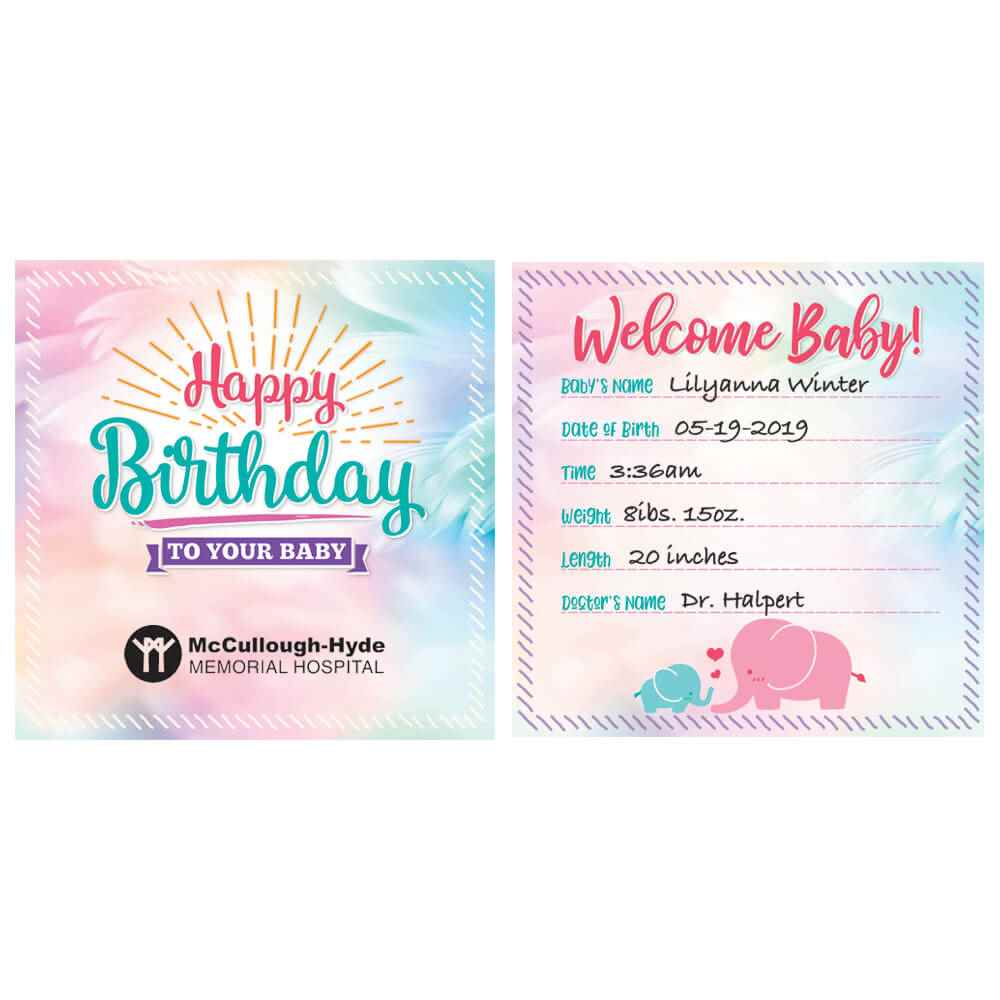 New Baby Card Recycled Card Eco Friendly Personalised Card Welcome to the World Children Baby Boy Name