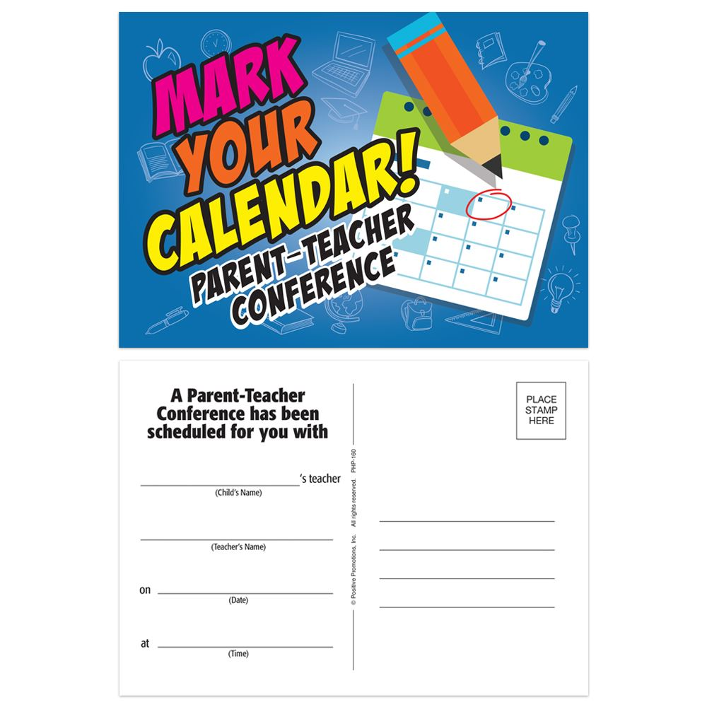 Mark Your Calendar! Parent-Teacher Conference Postcard