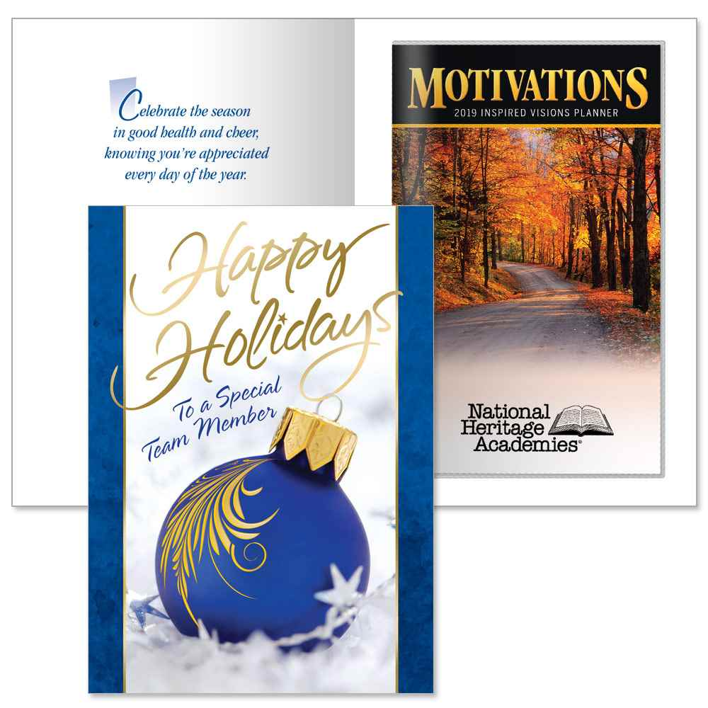 Happy Holidays To A Special Team Member Greeting Card With 2019 ...