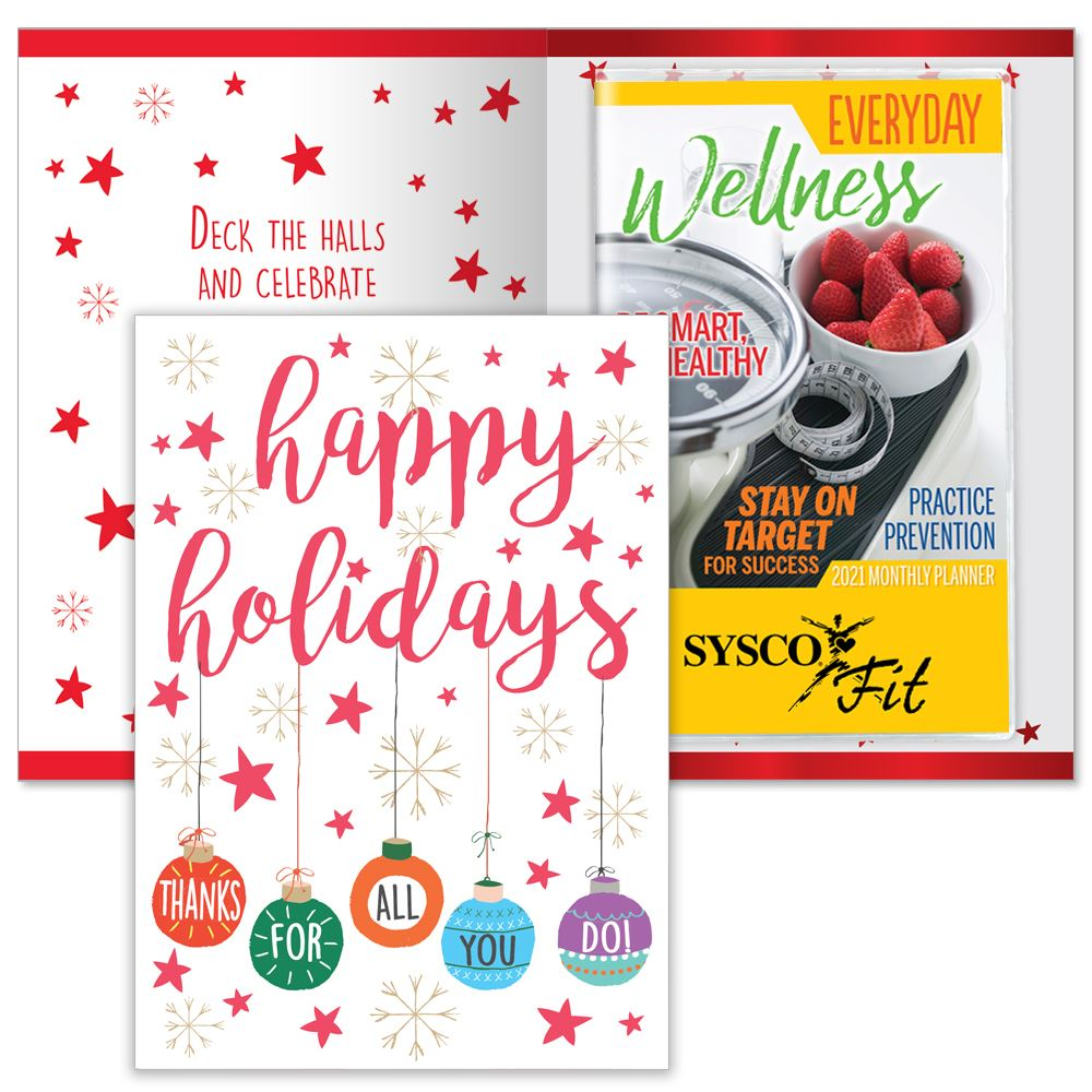 Happy Holidays Thanks For All You Do Greeting Card With