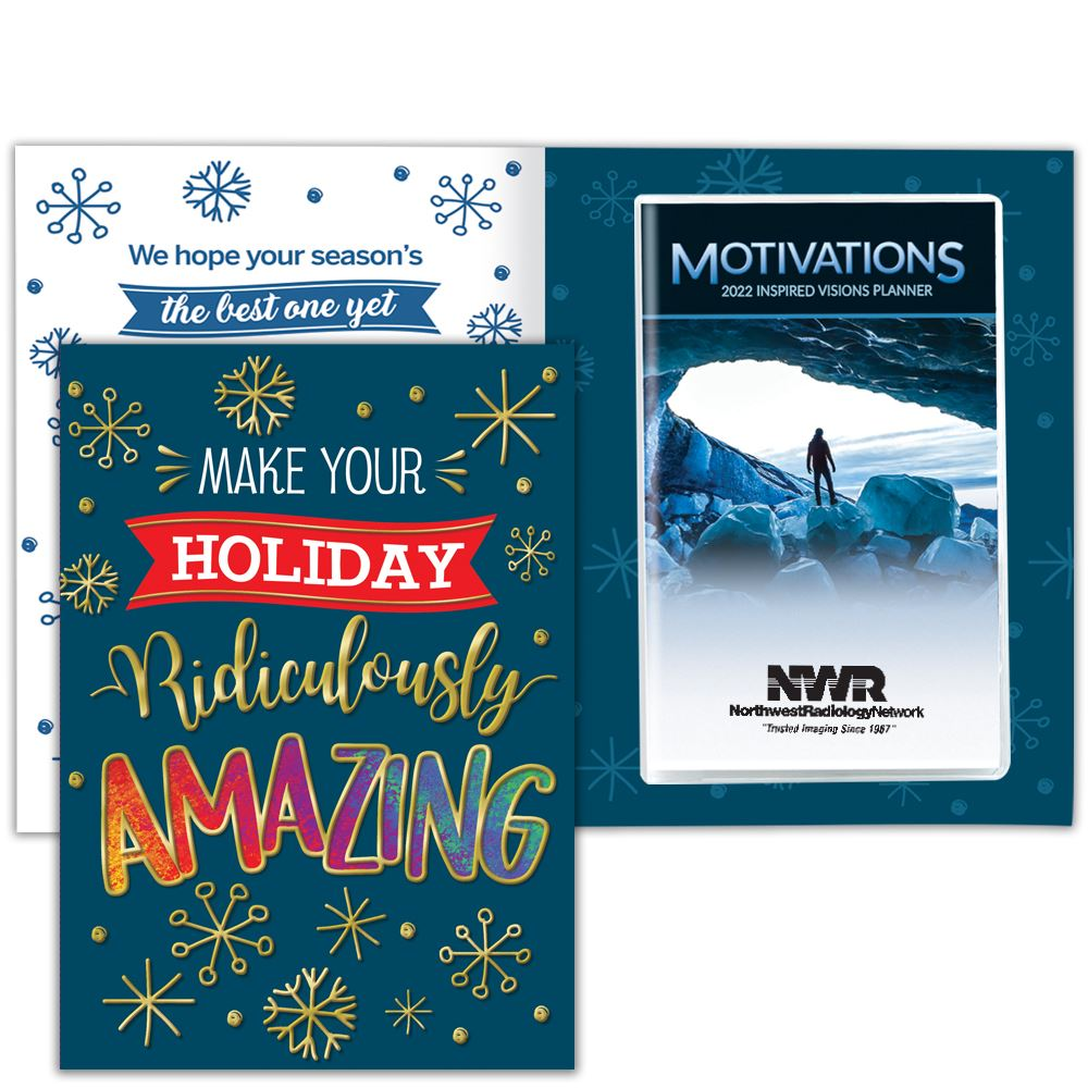 Make Your Holiday Ridiculously Amazing Greeting Card With 2022 Motivations Monthly Planner - Personalization Available