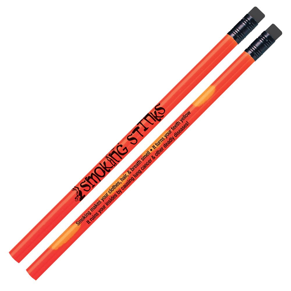 Smoking Stinks Heat-Sensitive Pencils With Tips - Pack of 100