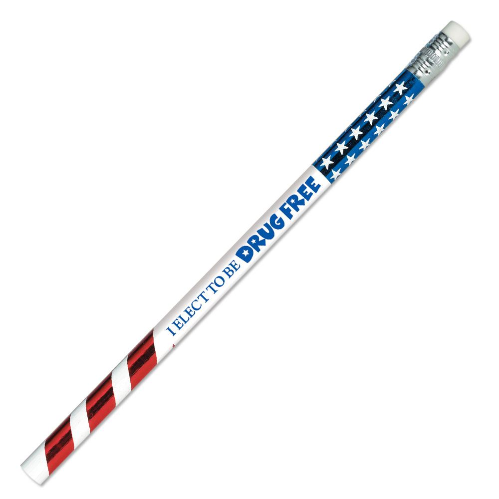 I Elect To Be Drug Free Foil Pencil - Pack of 100