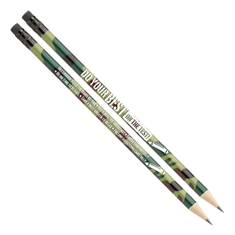 Do Your Best On The Test! Camouflage Pencils - Pack of 25
