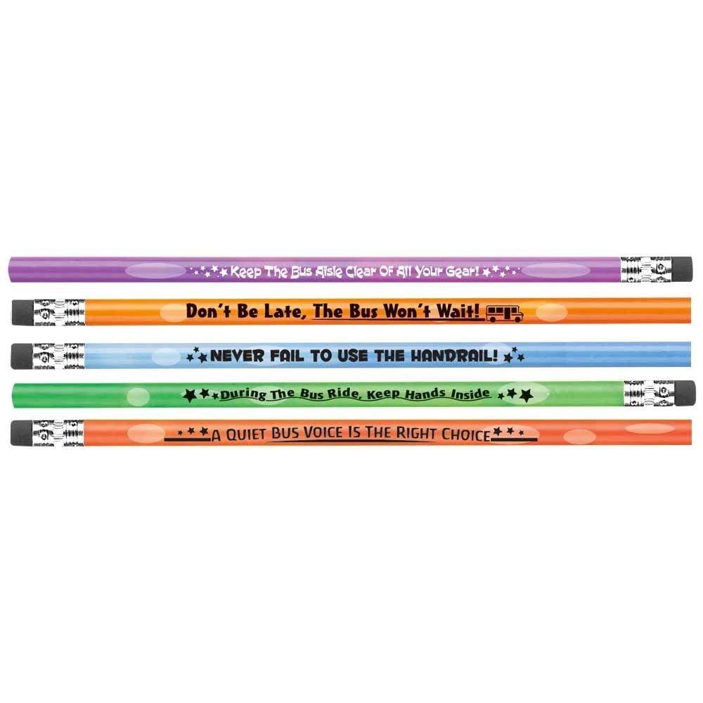 School Bus Safety Heat-Sensitive Pencil Assortment - Pack of 100