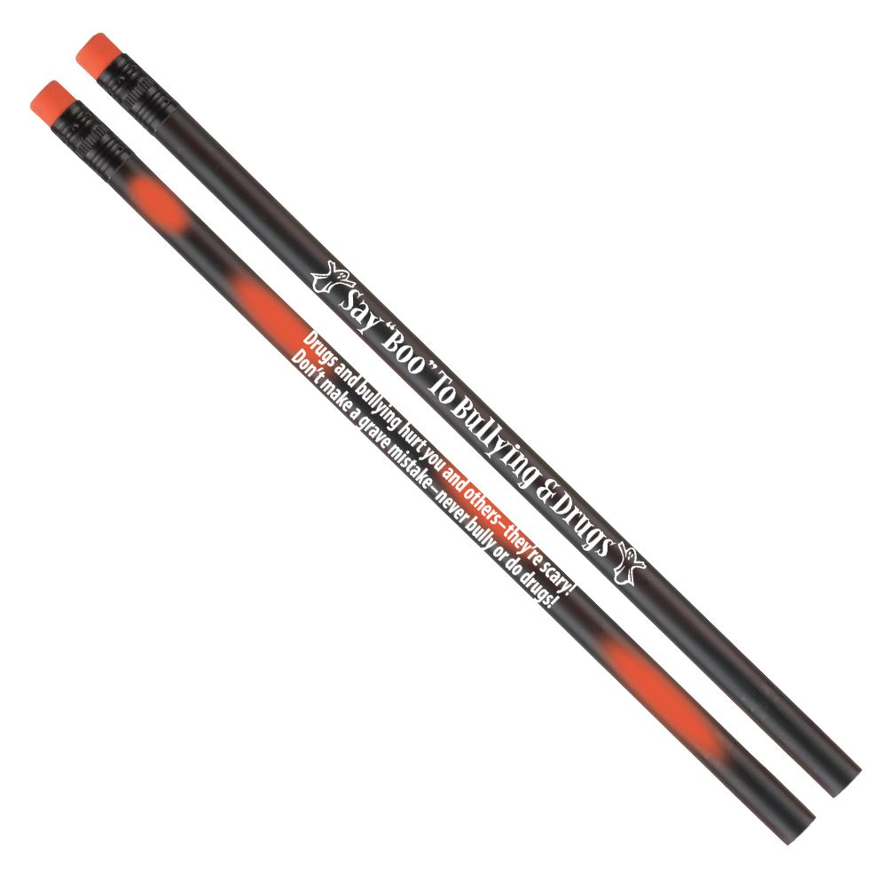 Say BOO To Drugs! Heat-Sensitive Pencil With Tips - 100 Per Pack