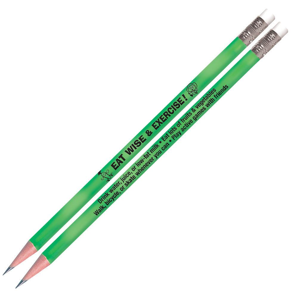 Eat Wise & Exercise! Heat-Sensitive Pencils