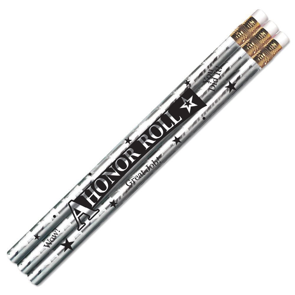 A Honor Roll Silver Sparkle Foil Pencils - Pack of 25