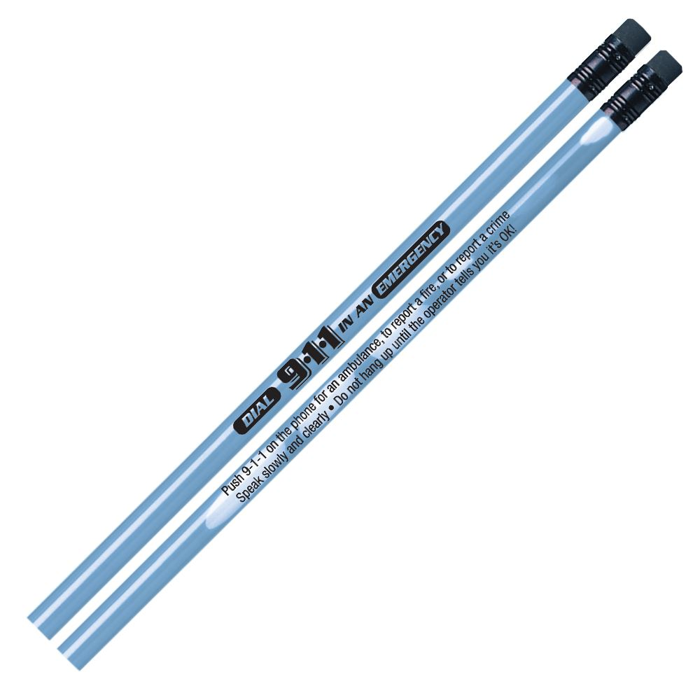 Dial 9-1-1 In An Emergency Heat-Sensitive Pencil