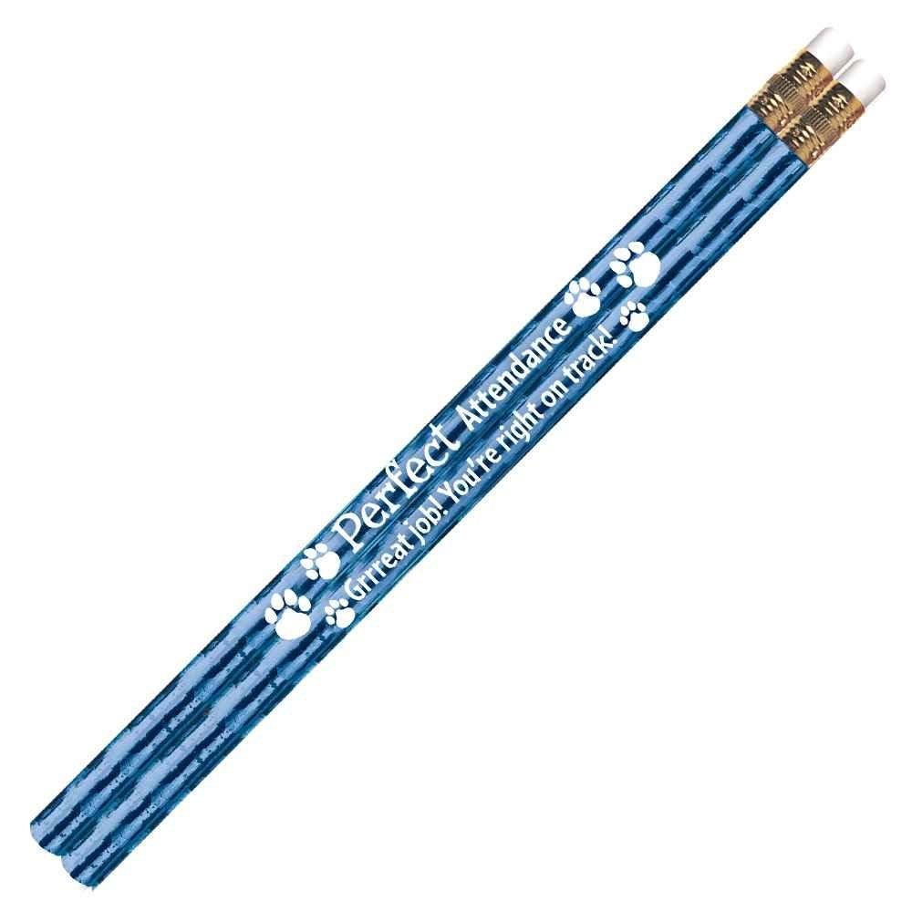 Perfect Attendance Sparkle Foil Pencil