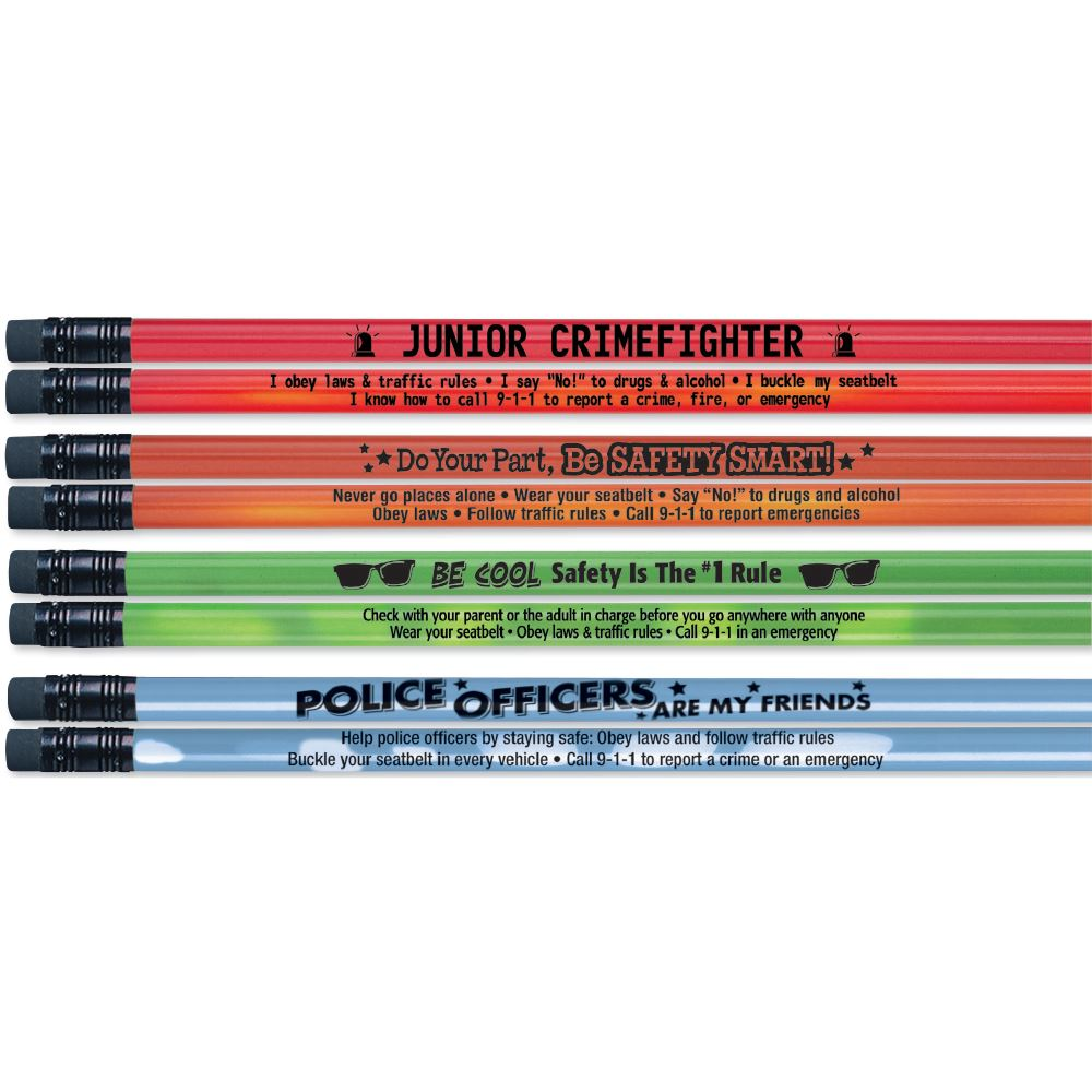 Assorted Colors Mood Pencil Assortment Pack With Safety Tips