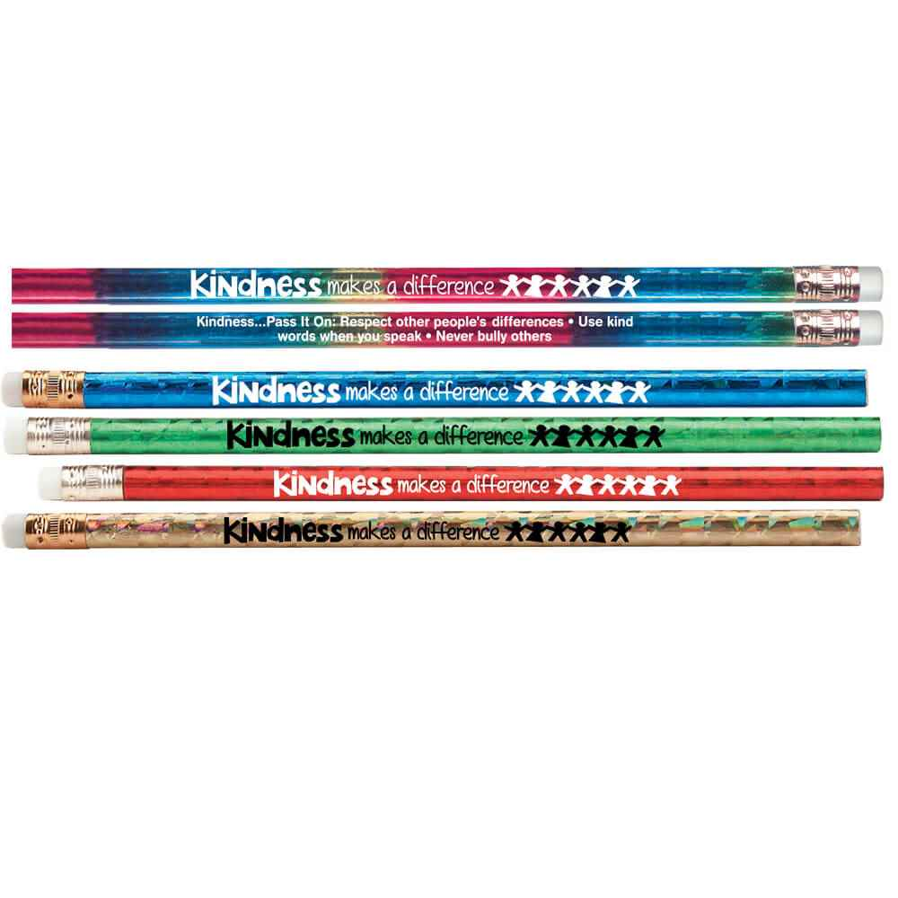 Kindness Makes A Difference Sparkle Foil Pencil Assortment Pack