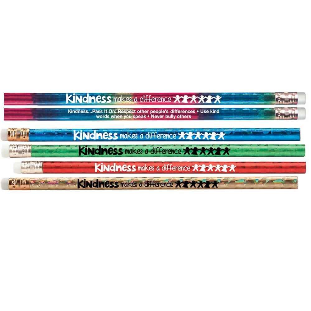 Kindness Makes A Difference Sparkle Foil Pencils 100-Piece Assortment Pack