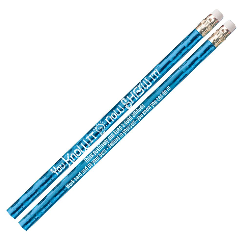 You Know It, Now Show It! Sparkle Foil Pencils - Pack of 25