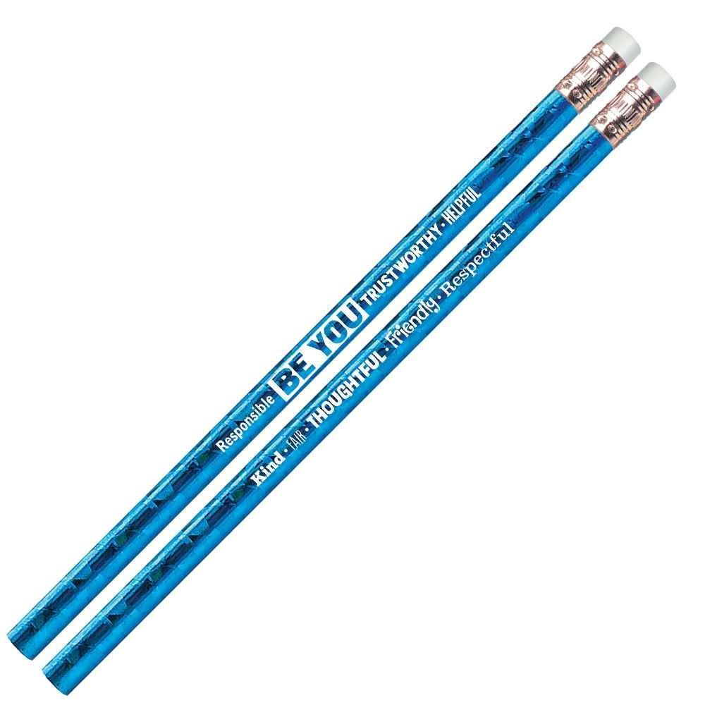 Be You: Responsible, Trustworthy, Helpful Sparkle Foil Pencil
