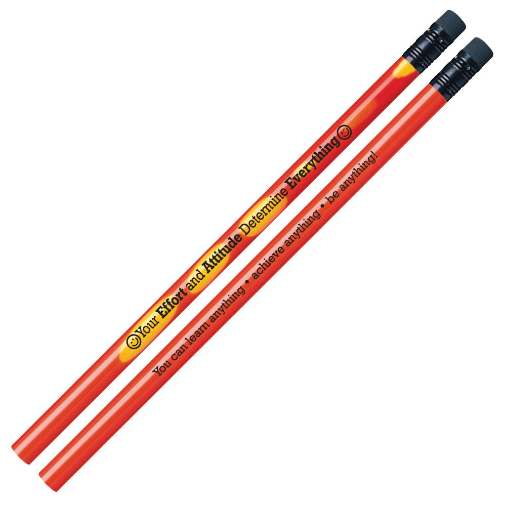 Your Effort And Attitude Determine Everything Growth Mindset Pencils - Pack of 25