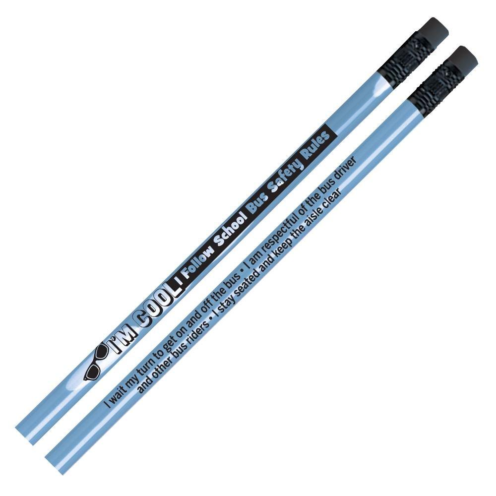 I'm Cool, I Follow School Bus Safety Rules Heat-Sensitive Pencil - 25 Per Pack