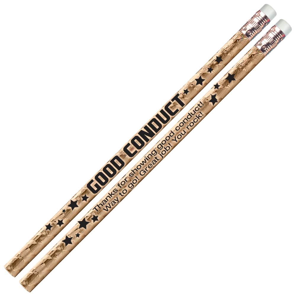 Good Conduct Gold Sparkle Foil Pencils - Pack of 25