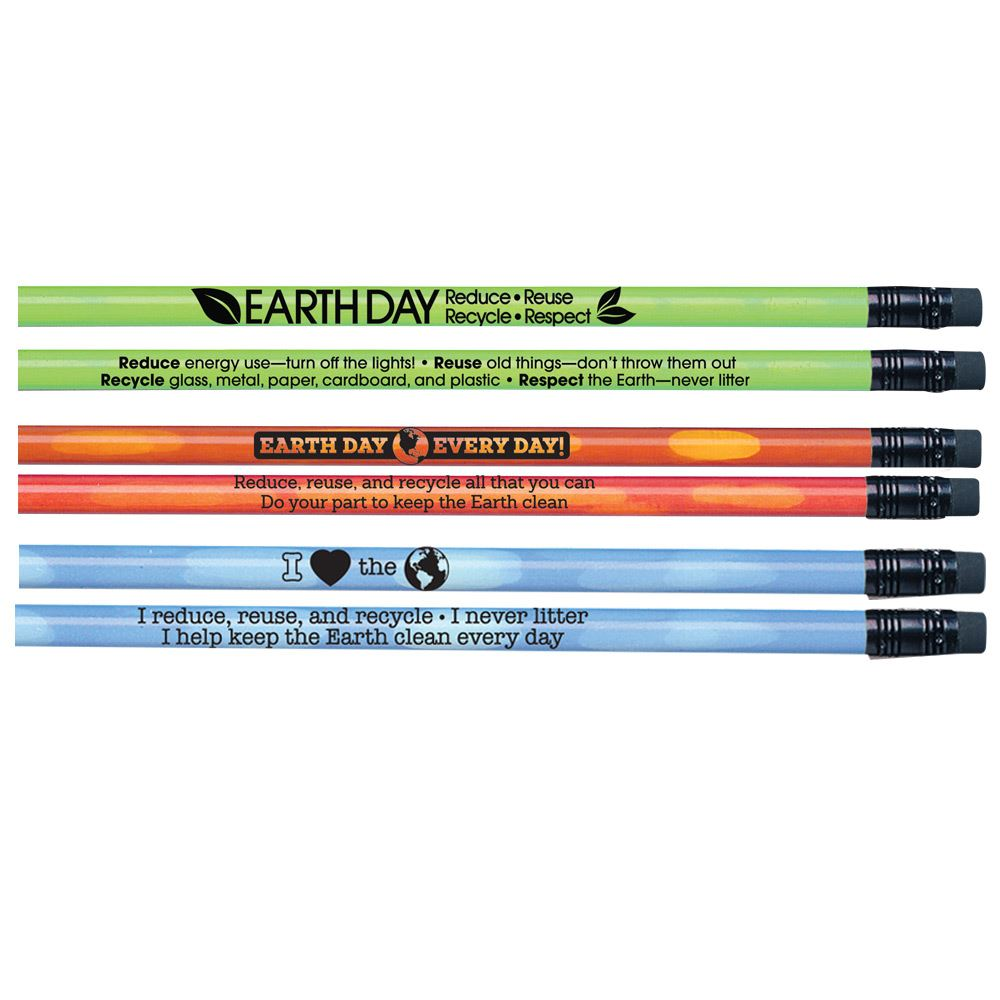 Earth Day Heat-Sensitive 90-Pencil Assortment Pack