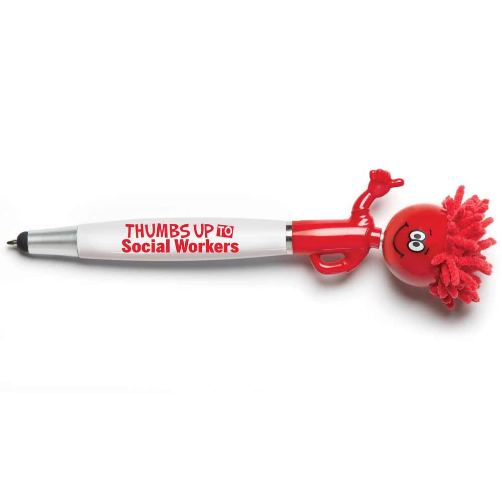 Thumbs Up to Social Workers Mop Topper™ Stylus Pen