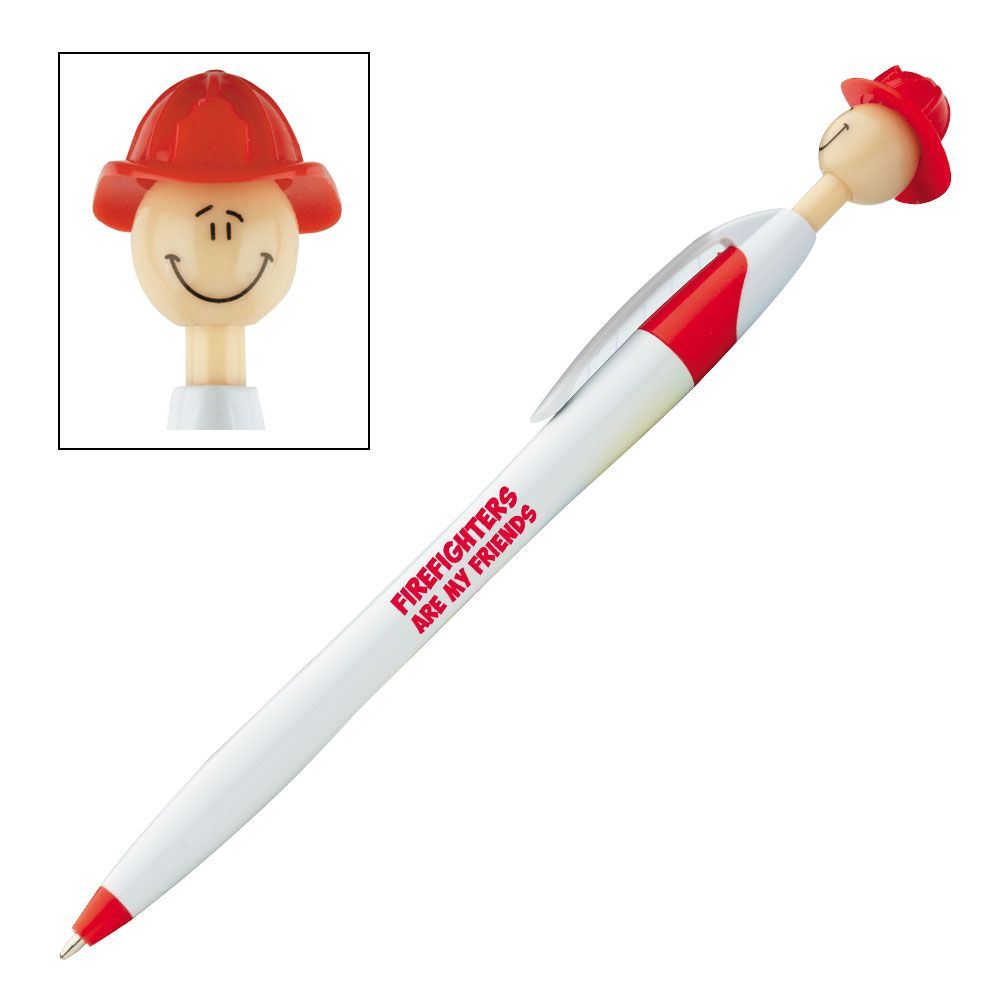 Firefighters Are My Friends Fire Chief Smilez Pen - Pack of 10