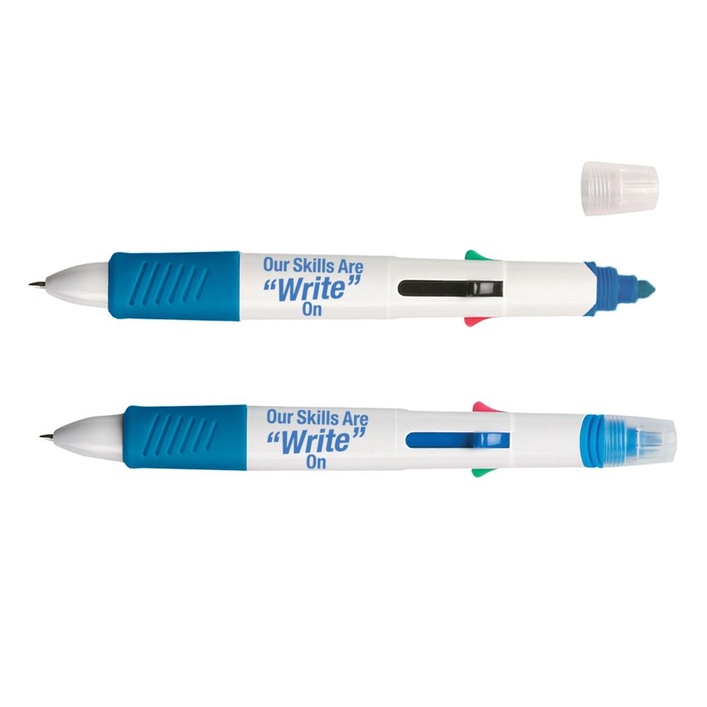 Multi-Color Pen With Highlighter - Pack of 15