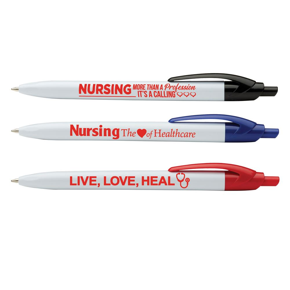 Nursing Pen Assortment Pack with Antimicrobial Additive - 24 Pens Per Pack