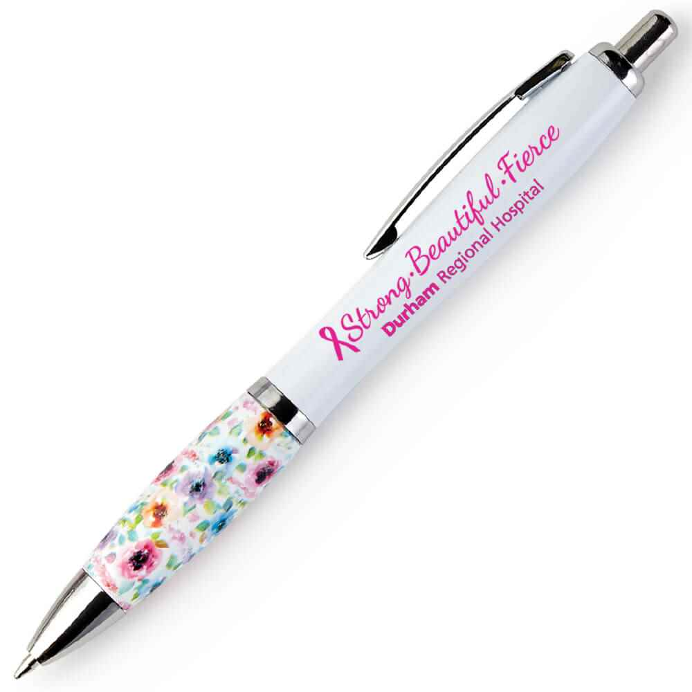 Strong, Beautiful, Fierce Floral Grip Awareness Pen Plus Personalization