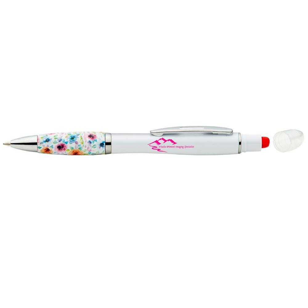 Floral Grip Highlighter Pen