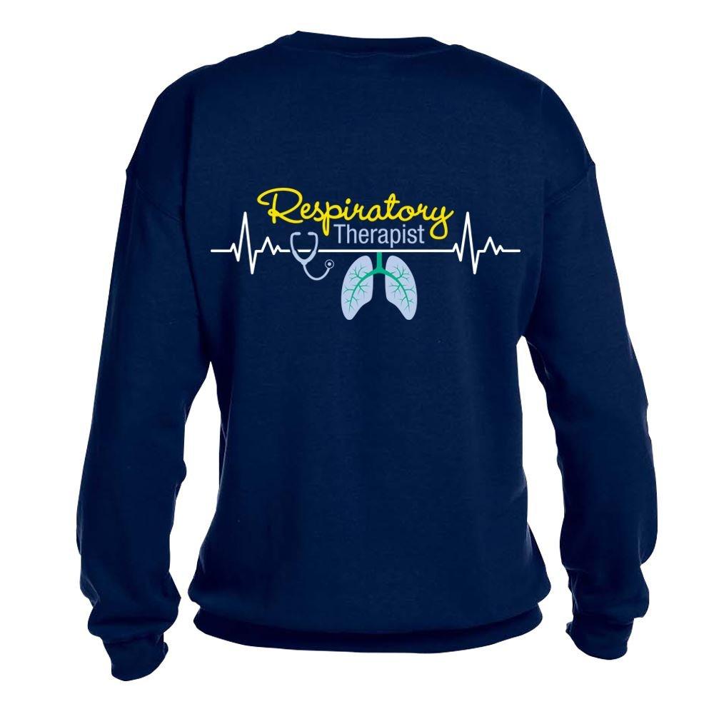 Respiratory Therapist Heartbeat Lungs  2 Sided Sweatshirt - Personalization Available