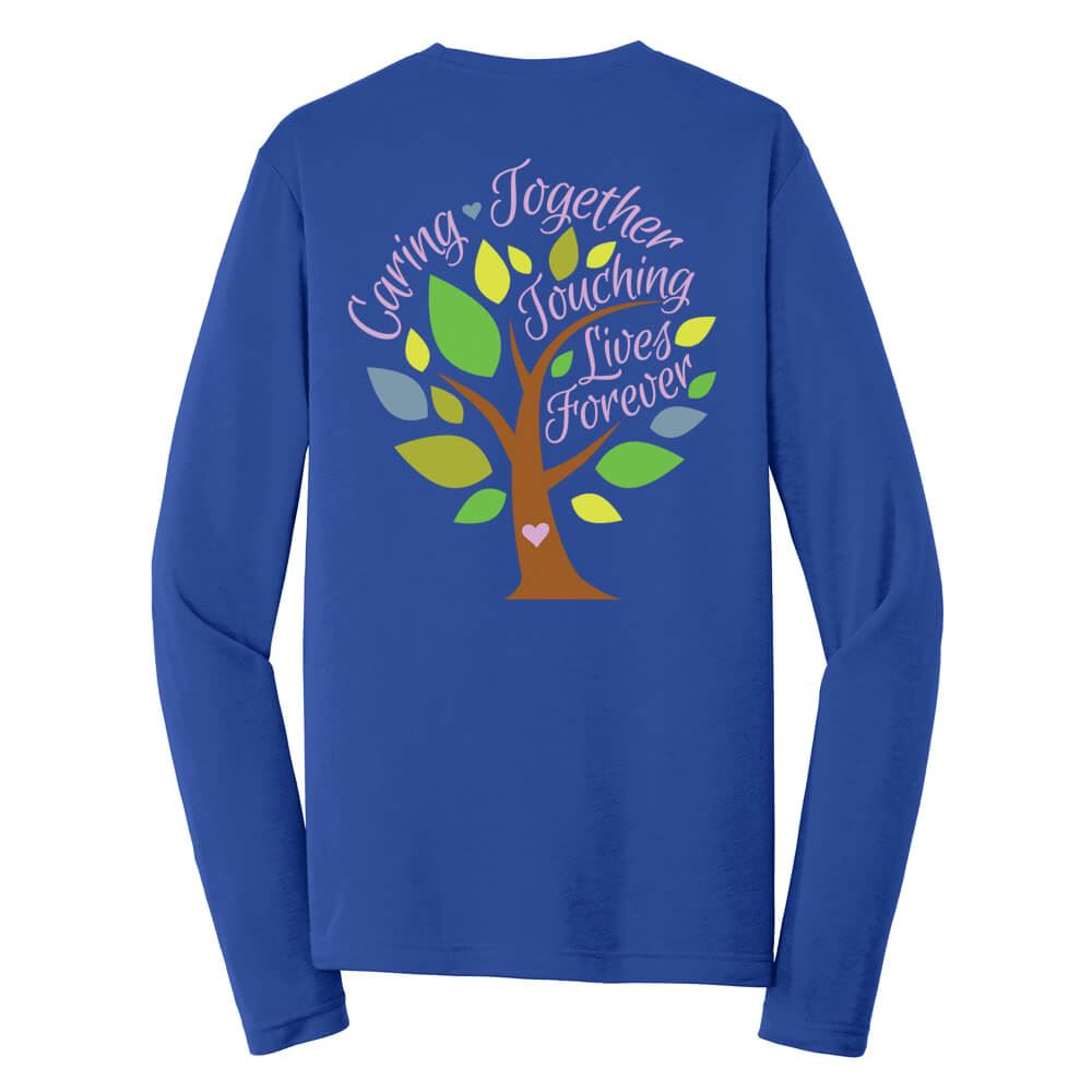Caring Together, Touching Lives Forever Long-Sleeve T-Shirt  -  Personalization Available