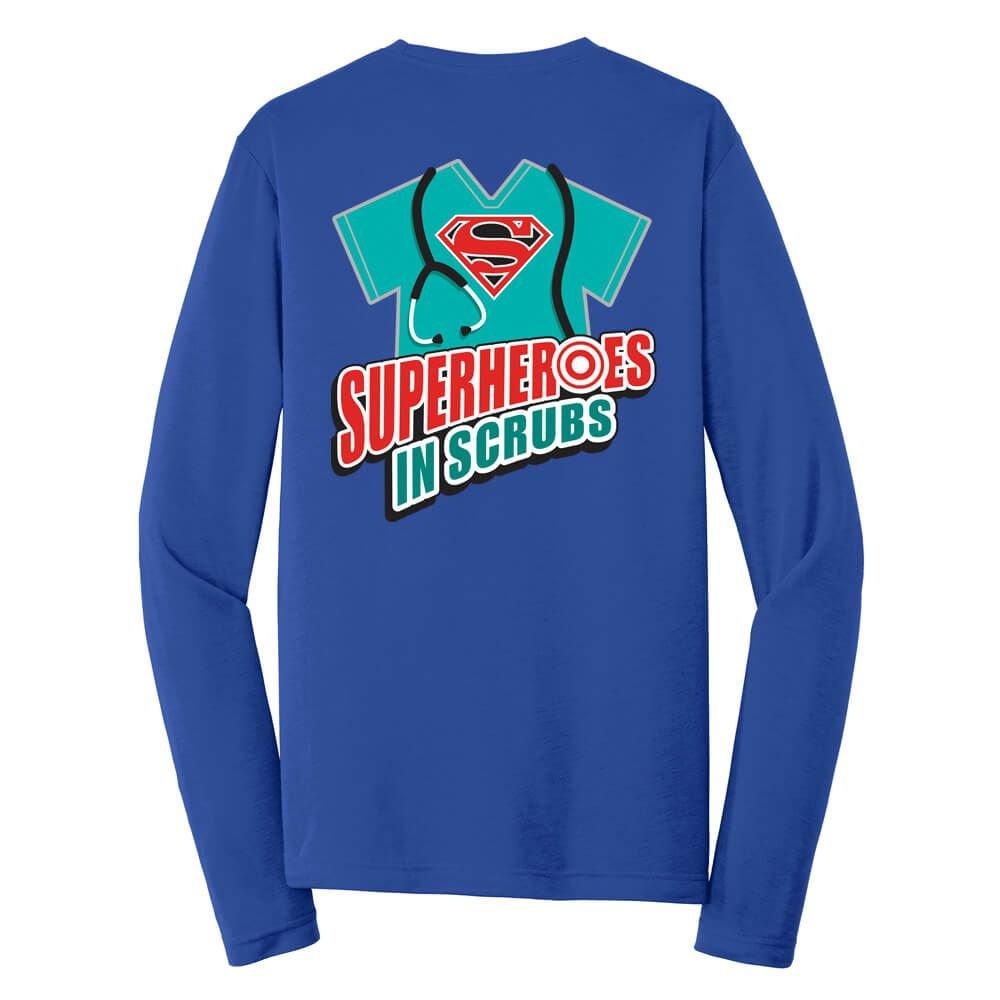 Superheroes In Scrubs Long-Sleeve T-Shirt