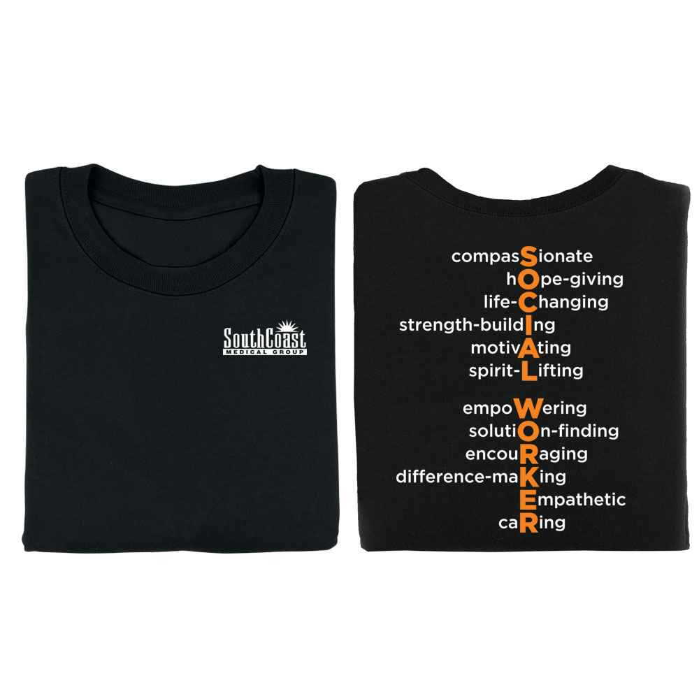 Social Worker Acrostic Positive Two-Sided T-Shirt - Personalized