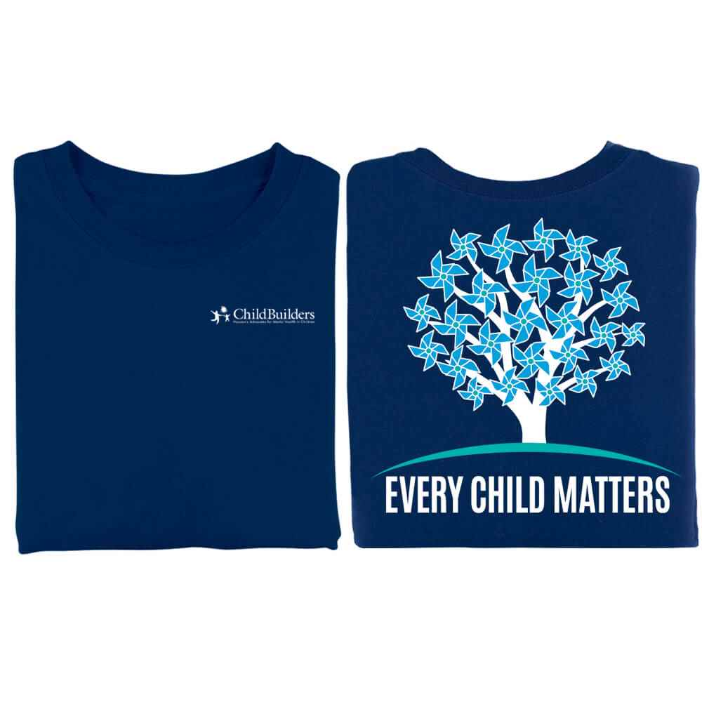 Every Child Matters Tree Navy 2-Sided T-Shirt - Personalization Available