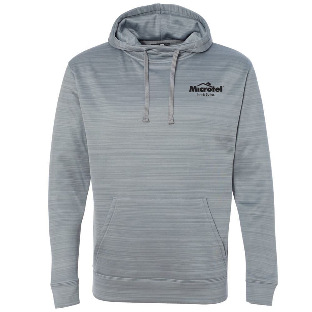 J. America® Odyssey Striped Performance Fleece Unisex Hooded Pullover Sweatshirt - Personalization Available