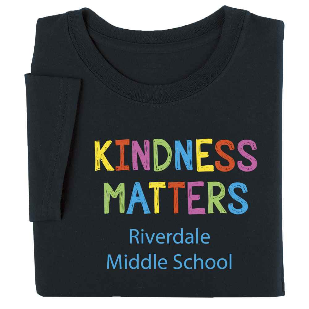 Kindness Matters Youth Positive T-Shirt with Personalization