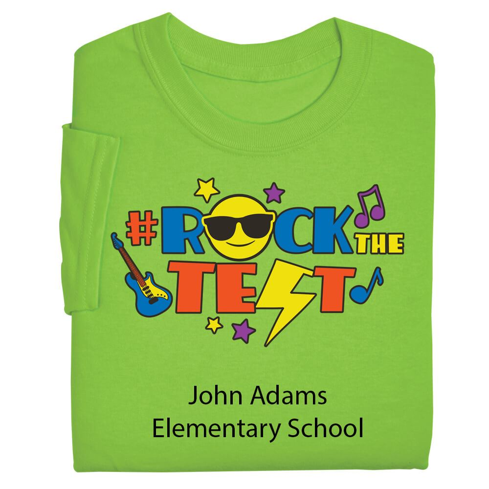 #RockTheTest Adult T-Shirt - Personalization Available
